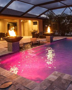 Pool Fire Water Features