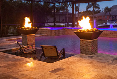 pool design fire features southwest florida pool company