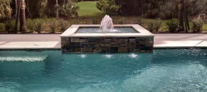 raised spa contemporary pools