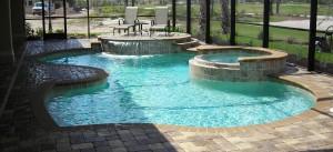 raised spa contemporary pools