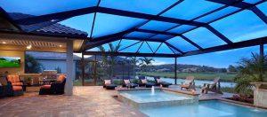Contemporary pool enclosure
