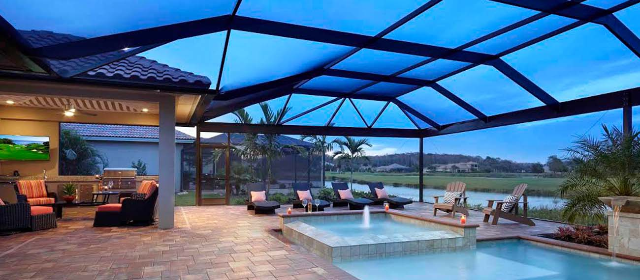Contemporary pool enclosure
