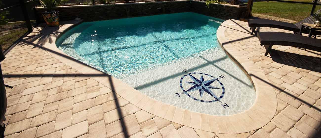 contemporary pools deck paver
