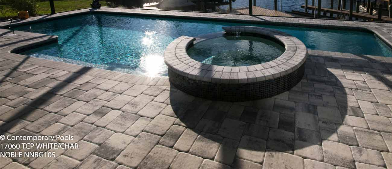 contemporary pools deck paver